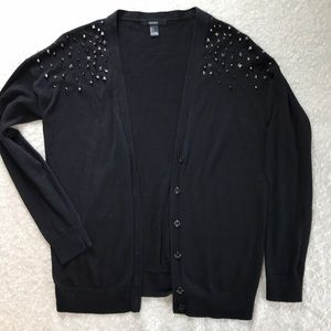 Forever 21  Black Cardigan with Shoulder Detail.
